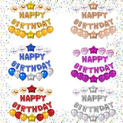 Happy Birthday Folienballon Buchstaben Geburstag Deko Luftballon 40cm Konfetti
