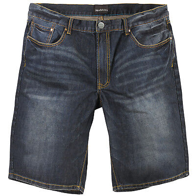 Denim Baumwolle Shorts (Shorts Jeans Herren kurze Hose denim Bermuda Sommer 100% Baumwolle Jeansshorts)