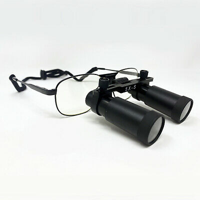 Ymarda Dental Medical Glasses Loupes 5.0x 340m Black Metal Frame Us Stock
