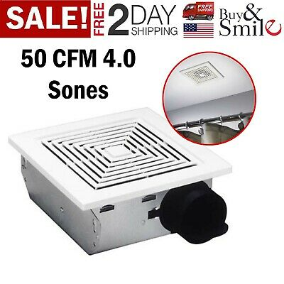 Broan Wall Ventilation Fan 50 CMF Bathroom Exhaust Ceiling Squar Vent Home Mount Wall Ventilation Fan