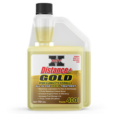 REV-X Distance + Gold Diesel Fuel System Cleaner - Cleans Turbo, Injectors & DPF