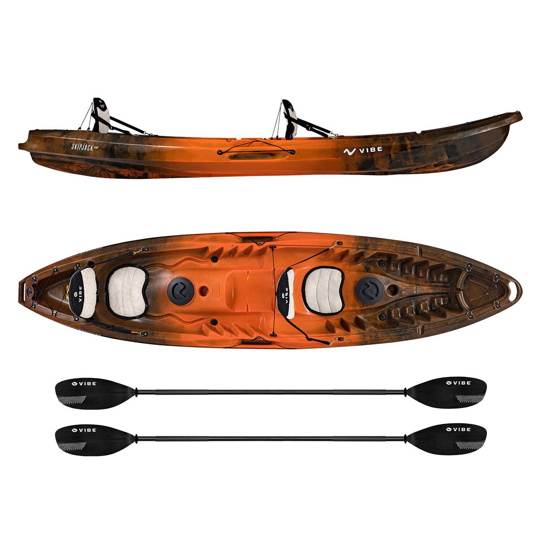 Vibe Gen II Skipjack 120T Tandem Fishing Kayak w Built-in Se
