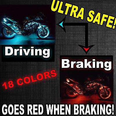 - 14pc Remote LED Motorcycle Light Kit Suzuki Boulevard M109R M90 w Brake Function