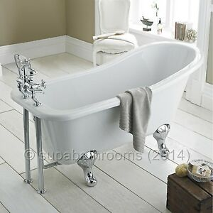 Kensington Freestanding Traditional Single Ended Roll Top Acrylic Slipper Bath