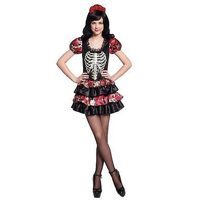 Totally Ghoul Skull Dancer Costume Skeleton Dress Teen Girl Day of the Dead New