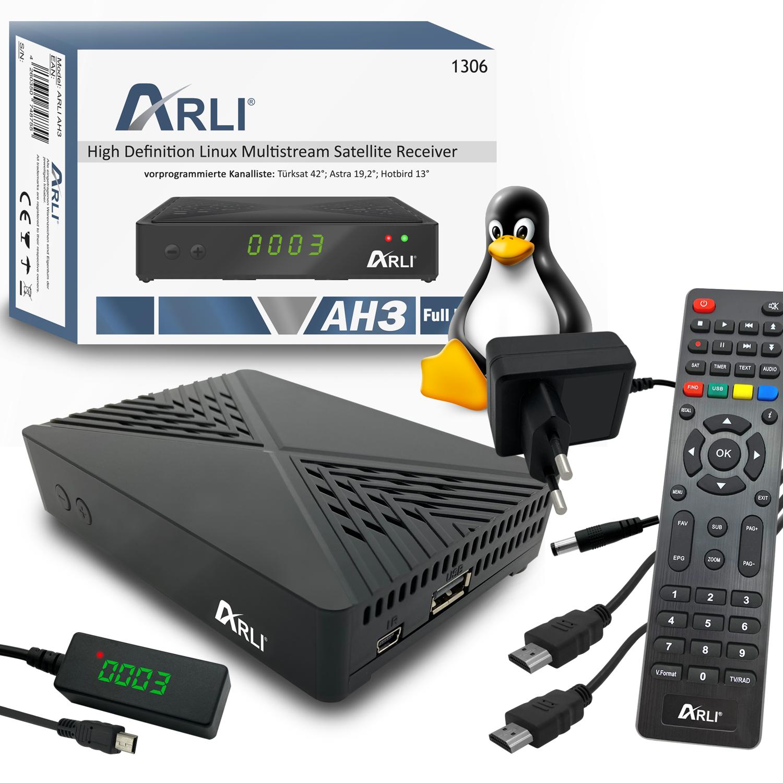 ARLI AH3 HD Linux Sat Receiver IPTV Box mini IP TV Web Stalker Xtream Youtube