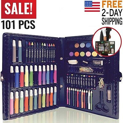 Art Set Kit Supplies Teens Kids Adults Drawing Painting Professional Art Case