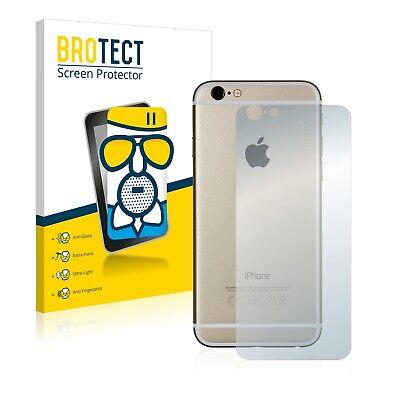Protector Pantalla para Apple iPhone 6S Trasera (superficie entera) Cristal Mate