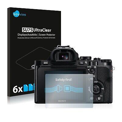 6x Displayschutzfolie Sony Alpha 7 (ILCE-7) Schutzfolie Klar Folie Displayfolie