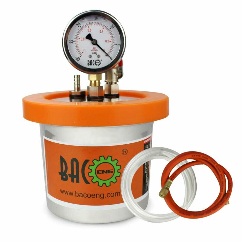 BACOENG 1.2 QT stainless steel resin trap vacuum deaeration chamber