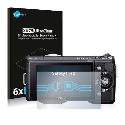 6x Displayschutzfolie für Sony Alpha NEX-5 Schutzfolie Klar Folie Displayfolie