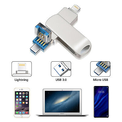 Iphone Usb-stick (32GB USB 3.0 Flash Drive Speicherstick Memory Stick Pen Dual iOS iPad für iPhone)