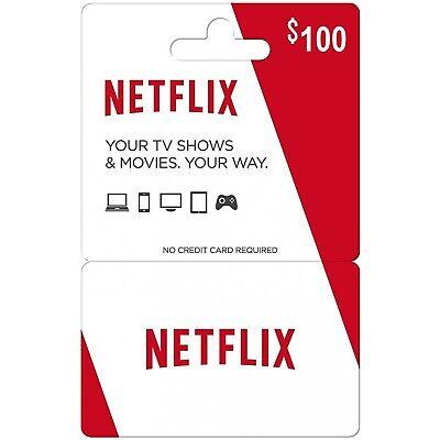 Netflix Gift Card $100