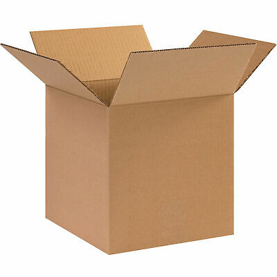 10 X 10 X 10 Cube Cardboard Corrugated Boxes 65 Lbs Capacity Ect-32 Lot Of