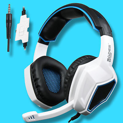 SADES SA-920 Gaming Headsets Stereo Headphones For  PS4 New Xbox One PC w/Mic