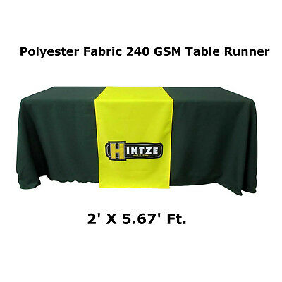Custom Table Runner For Table Tradeshow 2 X 5.67 Table Cover Not Included