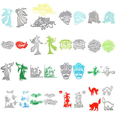 Halloween DIY Cutting Dies Stencil Scrapbook Album Paper Card Embossing Craft