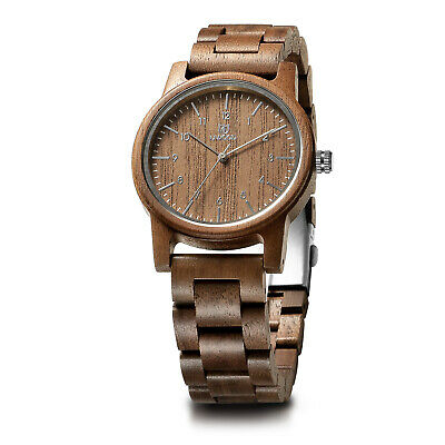 UWOOD Wooden Watch Walnut Men's Wood Watch Birthday Personalized Gift for Men ()