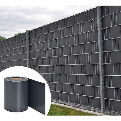 PVC Sichtschutzstreifen Zaunfolie Stabmattenzaun Streifen Folie grau 35m Juskys