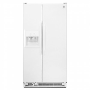 White Kenmore 25.1 cubic side by side fridge