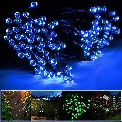 LED Solar Lichterkette weihnachts Außen Garten solarkette Draht-lichterkette