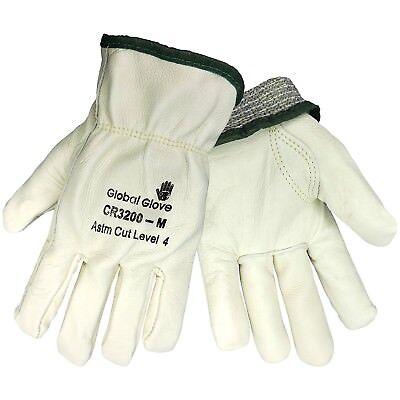 Premium Leather Cut Resistant Work Gloves Full Kevlar Lining ASTM Level 4 - Leather Cut Resistant Gloves