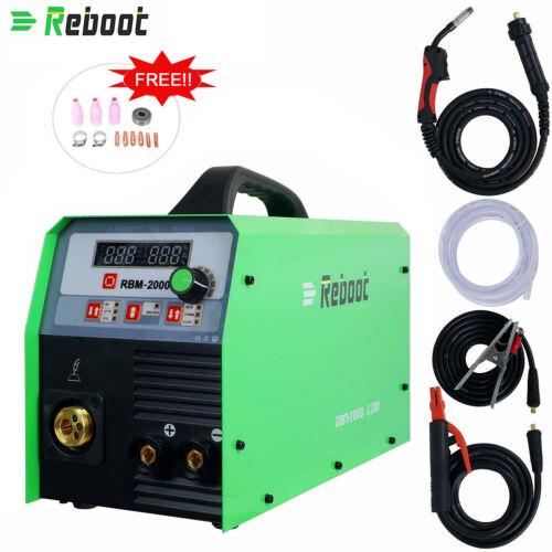 MIG Welder 200A Gas/Gasless MIG/Stick/Lift TIG 4 in 1 Inverter Digital Machine