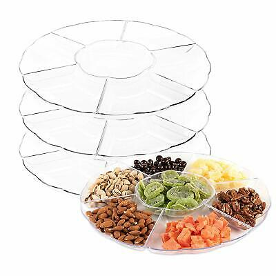 Impressive Creations Clear Round Plastic Serving Tray