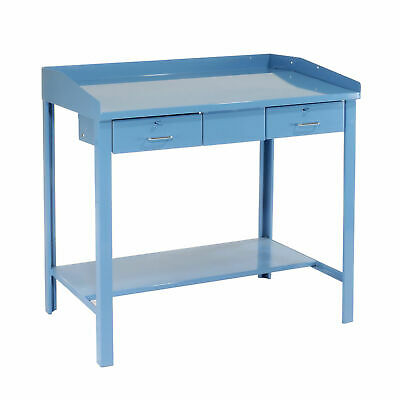 Extra-wide Shop Desk 48w X 30d X 43h Blue