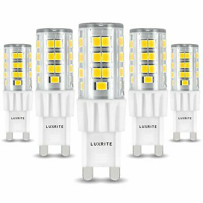 Luxrite G9 LED Bulb T4 50W Equivalent 550lm 5000K Dimmable G9 Base 5-Pack for sale  Rahway