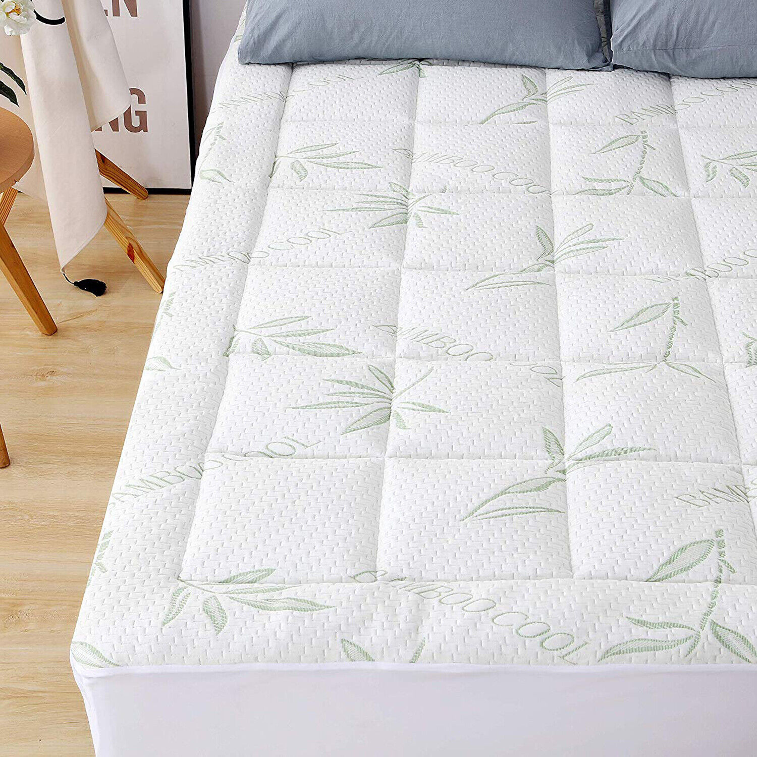 Bamboo Matress Pad Extra Plush Mattress Topper Overfilled Br