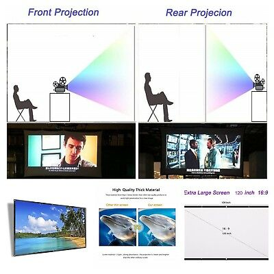 120 Inch Projector Screen HD Foldable Portable Front & Rear Projection Screen  - Front Screen Material