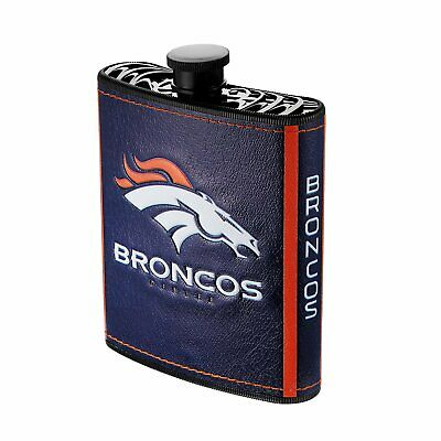 Denver Broncos NFL Plastic Hip Flask with Funnel 7 oz Broncos Hip Flask