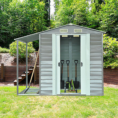 Outsunny 8.4x5 Garden Storage Yard Tool Shed Roof Gable Outdoor Building Utility
