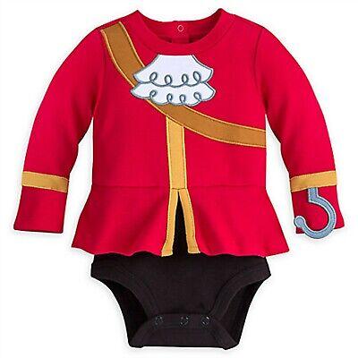 Baby Peter Pan Halloween Costumes (Disney Store Captain Hook Baby Bodysuit Boy Costume Peter Pan Halloween NO)