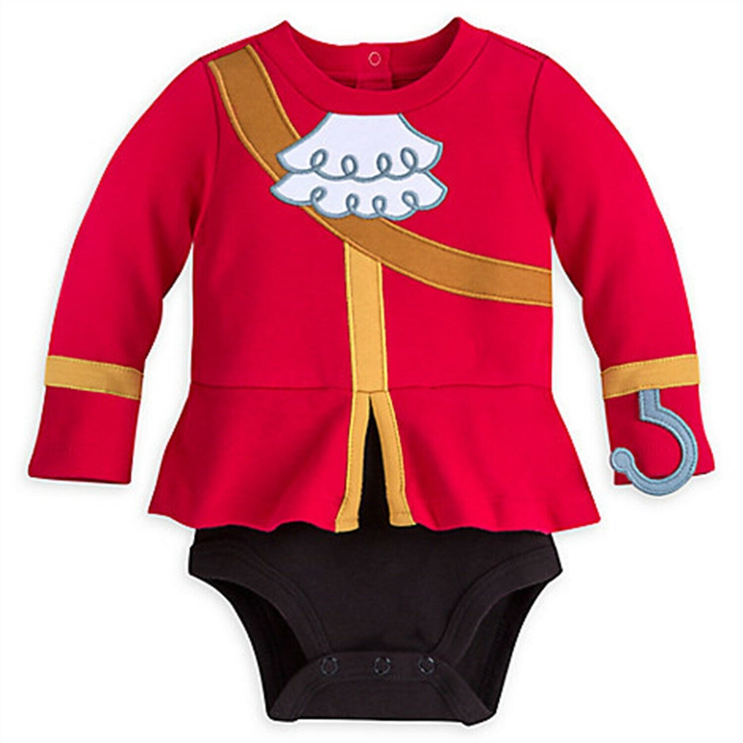 Disney Store Captain Hook Baby Bodysuit Boy Costume Peter Pa