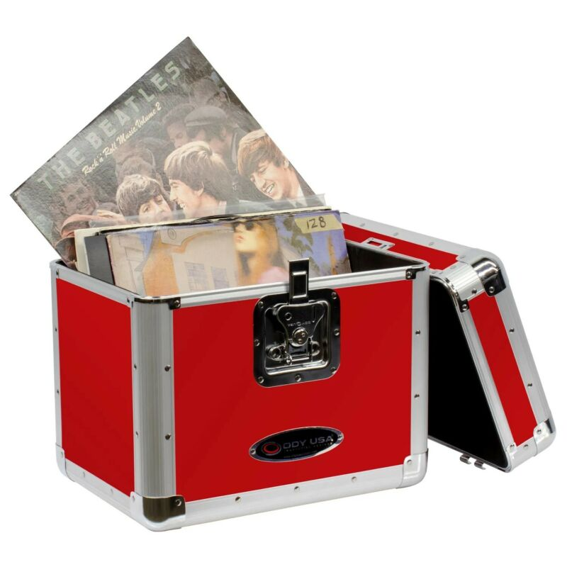 Odyssey KLP2RED, KROM Series Red Stackable Record/Utility Case for 70 12″ Vinyl
