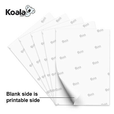 Koala 100 Sheets 8.5x11 Dye Sublimation Heat Transfer Paper Epson Inkjet Printer
