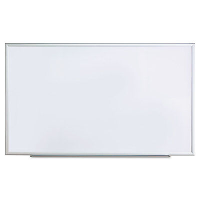 UNIVERSAL Dry Erase Board Melamine 60 x 36 Satin-Finished Aluminum Frame 43625
