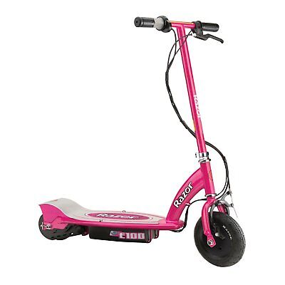 Razor E100 Kids Motorized 24 Volt Electric Powered Ride On Scooter, Pink
