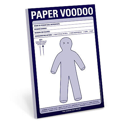 Knock Knock Notepads 6x9 60 Sheets Paper Voodoo