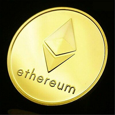 1 PCS Ethereum Coins 2021 Commemorative Collectors Gold Plated Crypto ETH Coin Coins