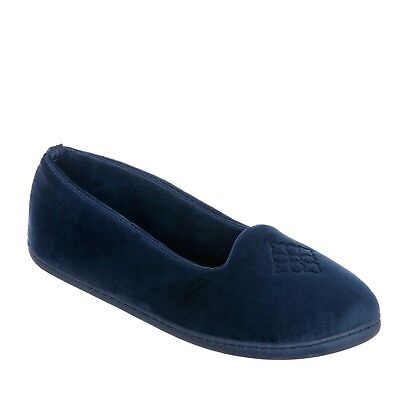 7a784d6cf325 Dearfoams Women s Velour Closed Back Slippers