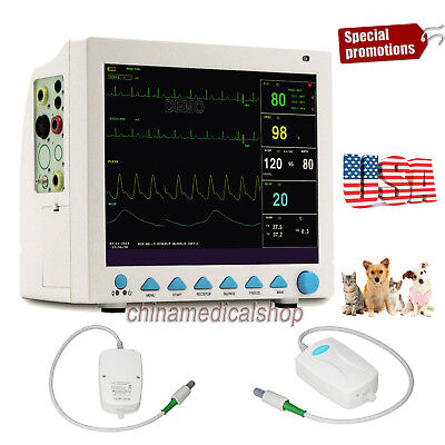 Usa Fedex Vet Icu Patient Monitor Veterinary Multi-parameter With Co2 Function