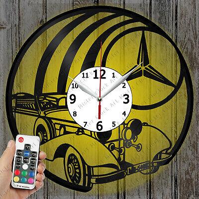 LED Clock Mercedes Retro Car Vinyl Record Clock Art Decor Original Gift 2382