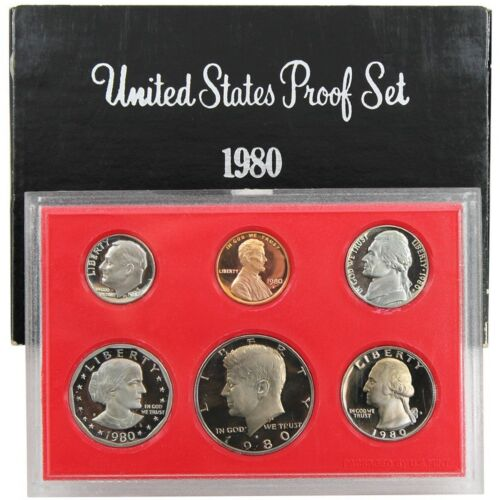 1980-S Proof Set United States US Mint Original Government Packaging Box SBA $