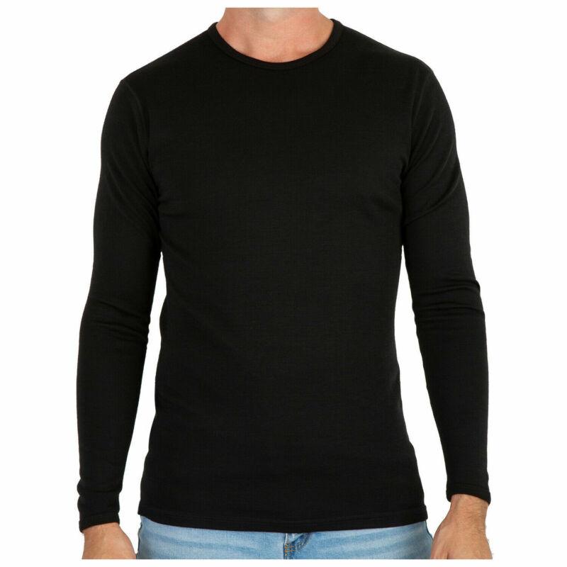 MERIWOOL Men's Merino Wool Midweight Baselayer Long Sleeve Thermal Crew Shirt