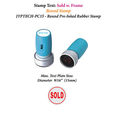 Sold W. Frame - Pc15 Pre-inked Rubber Stamp Red Ink