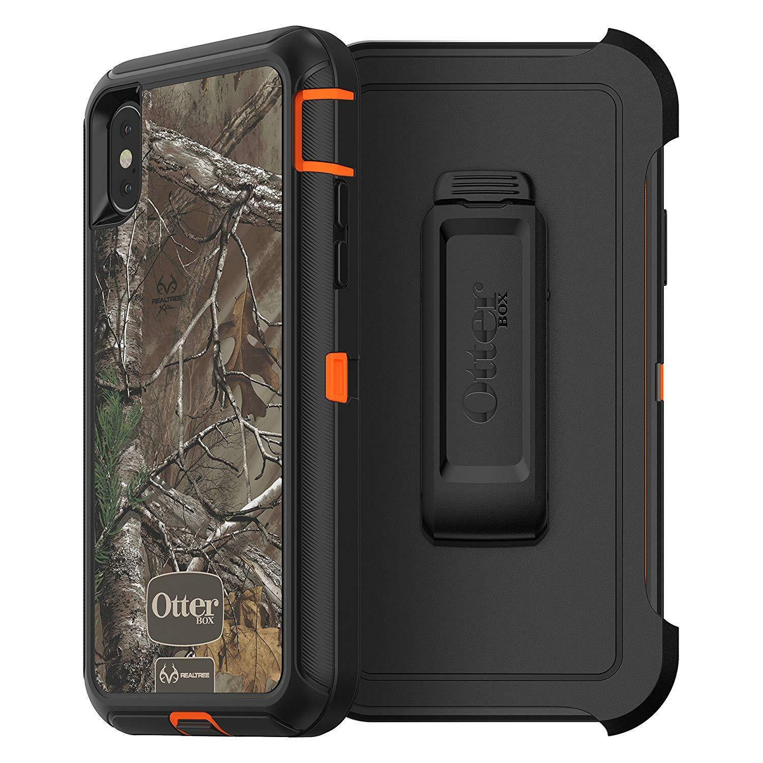 OtterBox DEFENDER SERIES Case for iPhone X (BLAZE ORANGE W/REALTREE XTRA CAMO)