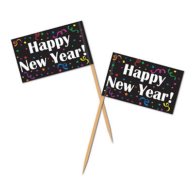 50 Happy New Year! Picks Appetizers Desserts Treats Decor Eve Party Celebration](Happy New Year Party)